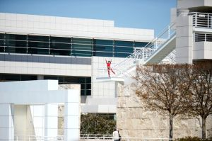 """""""Roof Piece"""" at the Getty. photo: Roger Wong"""